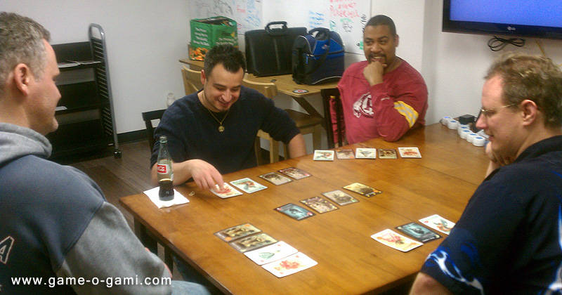 """Playing """"Goblins Drool, Fairies Rule!"""" at Vegas Game Day."""