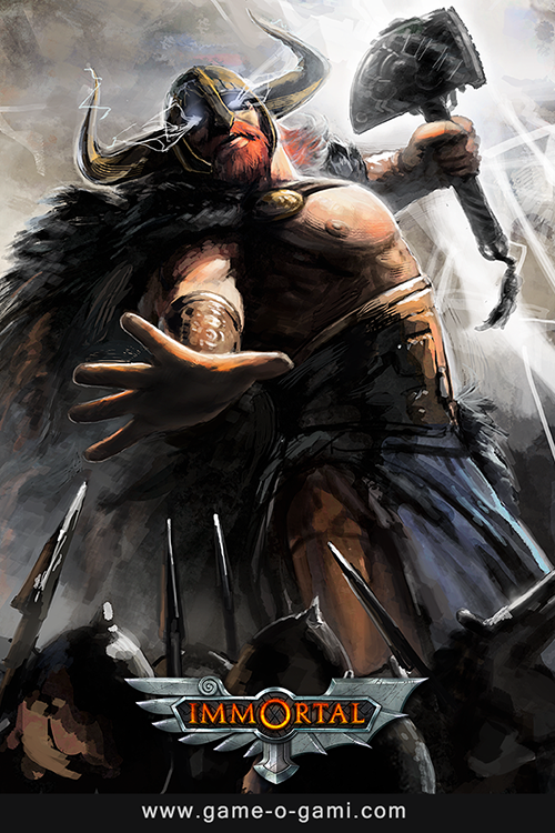 Immortal - game of mythic strategy - Thor card illustration