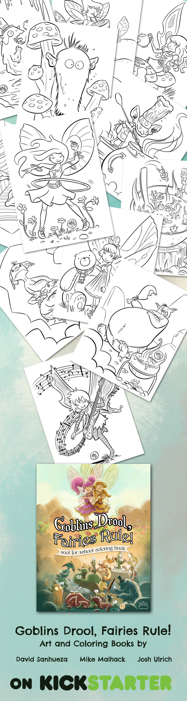 Goblins Drool Fairies Rule coloring book Kickstarter