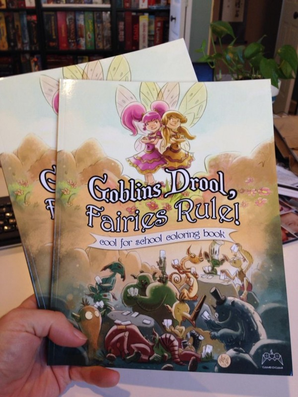Goblins Drool, Fairies Rule, cool for school coloring books