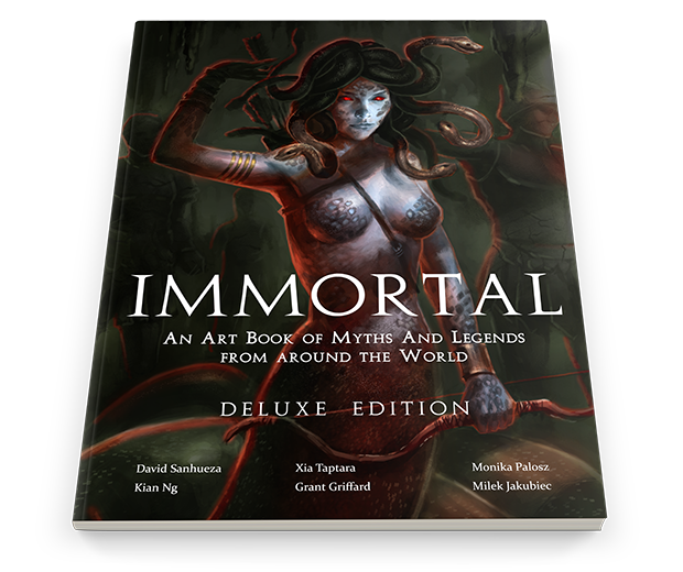 Immortal Art Book of Myths and Legends on Kickstarter